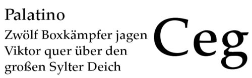 Resultado de imagen para palatino tipografia