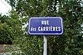 Panneau de la rue des Carrières (Éduarel, 12 septembre 2017).jpg