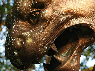 Panthers of Pittsburgh - Detail of one of Moretti's Panther statues