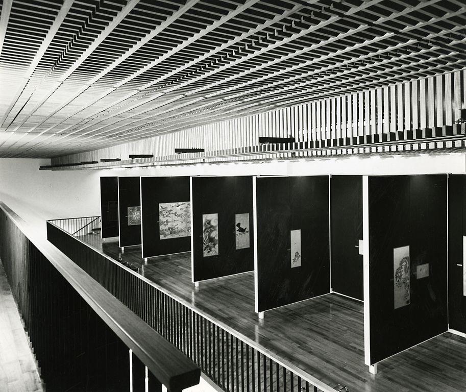 Intérieur du musée asiatique de Gênes en 1967 - Photo de Paolo Monti