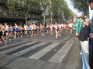 English: Paris Marathon in Paris, Ile-de-Franc...