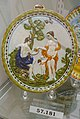 Paris and Aphrodite plaque, England, probably Staffordshire, 1790-1820, pearlware, underglaze enamels, HD 57.181 - Flynt Center of Early New England Life - Deerfield, Massachusetts - DSC04638.jpg