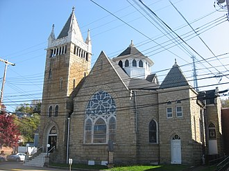 First Presbyterian Church (Parkersburg, West Virginia) - Front of the church
