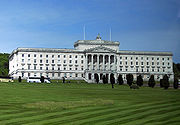 Parliament Buildings, seat of the present Northern Ireland Assembly.