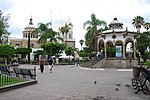 View of Plaza Hidalgo in Tlaquepaque, Jalisco, Mexico