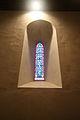 Parrot window in St Padarn's Church, Llanbadarn Fawr, Ceredigion.jpg
