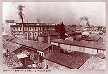 Lo stabilimento nel 1927