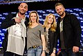 Paul Blackthorne, Katie Cassidy and Caity Lotz HVFF The Lances.jpg