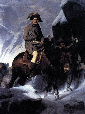 Image illustrative de l'article Bonaparte franchissant les Alpes