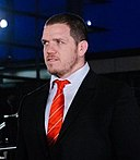 Paul James. Wales Grand Slam Celebration, Senedd 19 March 2012 (cropped).jpg