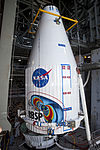 Payload fairing with RBSP in it guided to the top of the Atlas V (401).jpg