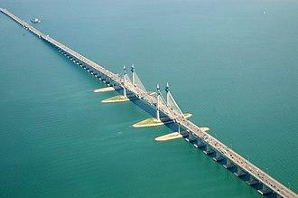 Sultan Abdul Halim Muadzam Shah Bridge - Image: Penang Bridge in extension