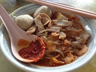 Hokkien mee - A bowl of Penang Hokkien Mee