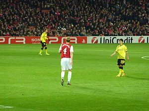 Per Mertesacker - Mertesacker and Arsenal against Borussia Dortmund in the UEFA Champions League