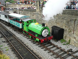 """Percy the Small Engine - A mock-up """"Percy"""" at a Day out with Thomas event on the Llangollen Railway"""