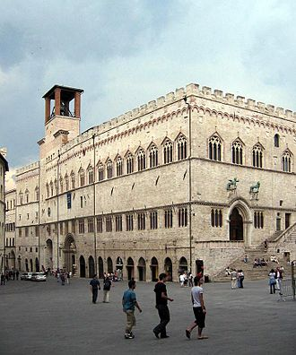 Galleria Nazionale dell'Umbria - The Palazzo dei Priori, where the collection has been housed since 1878.
