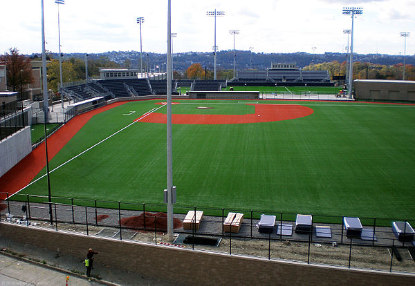 The new baseball stadium in the Petersen Sports Complex nearing completion in late October, 2010 PeteSportsComplexOctConst.jpg