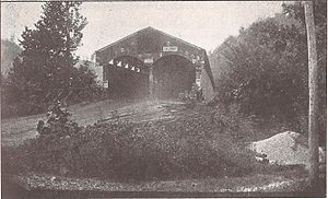 Philippi Covered Bridge - The Philippi Covered Bridge (northeast end) as it appeared ca. 1899.