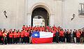 Piñera con deportistas Juegos Panamericanos 2011.jpg