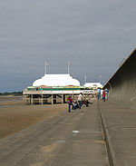The shortest pier in Britain, on the sea front at Burnham-on-Sea
