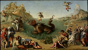 Piero di Cosimo - Perseus Rescuing Andromeda, oil on canvas, 1510 or 1513, Uffizi