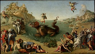 Piero di Cosimo - Perseus Rescuing Andromeda, oil on canvas, 1510 or 1513, Uffizi.
