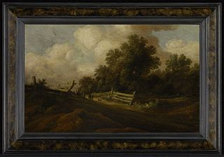 Landscape with Two Figures and a Dog