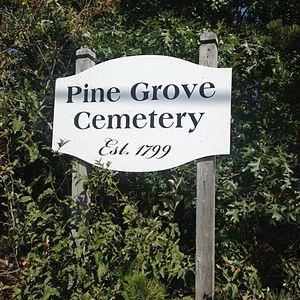 Pine Grove Cemetery (Truro, Massachusetts) - The cemetery's sign