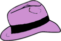 Pink Fedora hat.png