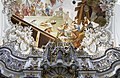 Pipe organ and ceiling fresco - Stiftskirche St. Johannes d. T. - Steingaden - Germany 2017.jpg