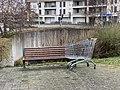 Place de la Dombes (Beynost) - banc et caddie abandonné.jpg