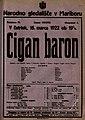 Plakat za predstavo Cigan baron v Narodnem gledališču v Mariboru 16. marca 1922.jpg