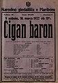 Plakat za predstavo Cigan baron v Narodnem gledališču v Mariboru 18. marca 1922.jpg