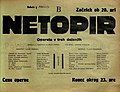 Plakat za predstavo Netopir v Narodnem gledališču v Mariboru 1. februarja 1930.jpg