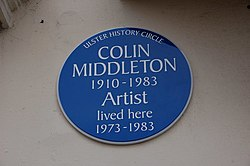 Photo of Colin Middleton blue plaque