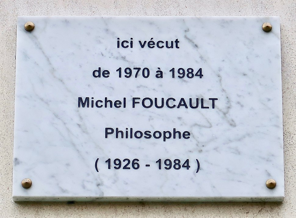 Plaque Michel Foucault, 289 rue de Vaugirard, Paris 15e
