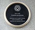 Plaque on Tower Building, Liverpool.jpg