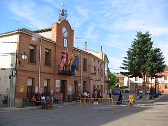Abia de las Torres - Plaza mayor and Ayuntamiento of Abia de las Torres