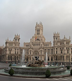 Plaza de Cibeles (square) in Madrid (Spain). F...