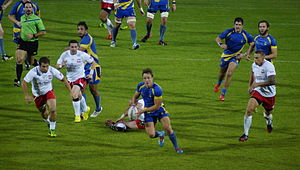 Poland vs Sweden 2014 rugby - Enstad's attack.jpg