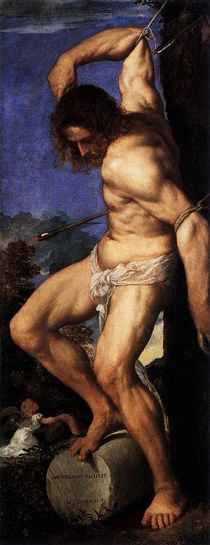 Averoldi Polyptych - The Martyrdom of Saint Sebastian