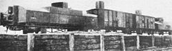 Polski improwizowany pociąg pancerny zima 1919/1920