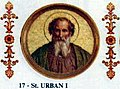 Pope St Urban I the Martyr of Rome 222-230.jpg
