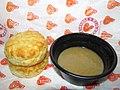 Popeyes Louisiana Kitchen Biscuits and Gravy (16604724975).jpg