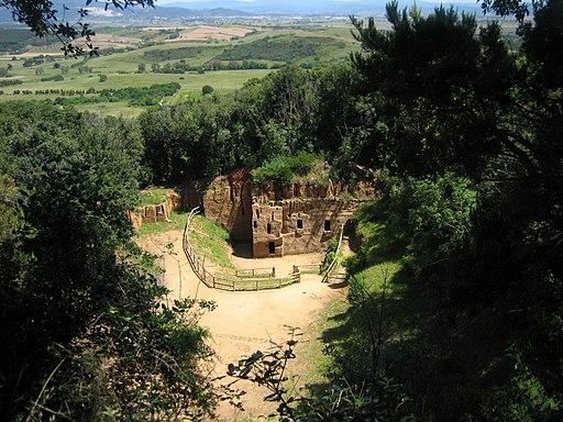 Populonia, Necropoli delle Grotte
