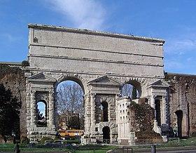 The Porta Maggiore in Rome