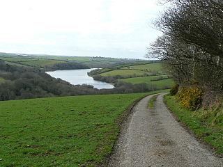 Porth Reservoir A reservoir in Cormwall, England