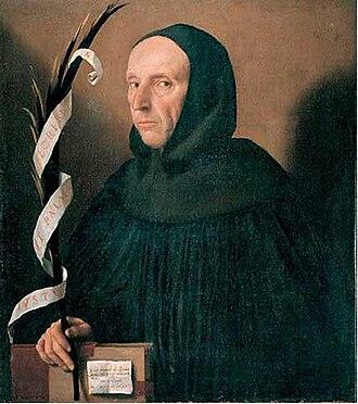 Girolamo Savonarola - Fantasy portrait of Girolamo Savonarola by Moretto da Brescia, c. 1524.