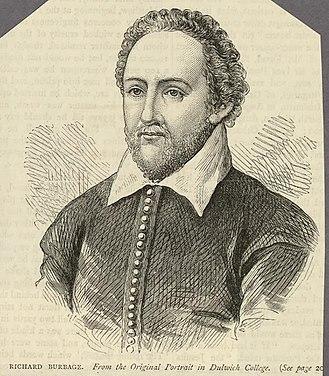 Richard Burbage - 19th century print of Richard Burbage