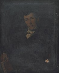 Portrait of a gentleman holding a book